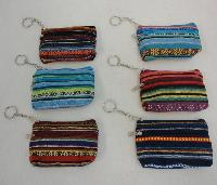 "5""x3.25"" Two-Compartment Zippered Change Purse [Stripes"